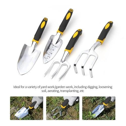 5 Pieces/4 Pieces/3 Pieces Heavy Duty Cast-Aluminum Heads Gardening Kit Garden Tool Set