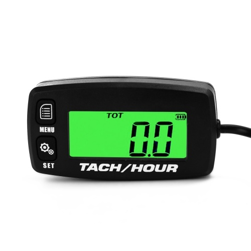 Lightweight Portable Backlit LCD Digital Tach Hour Meter Tachometer Waterproof 2/4 Stroke Engine Motorcycle Gauge Accessories