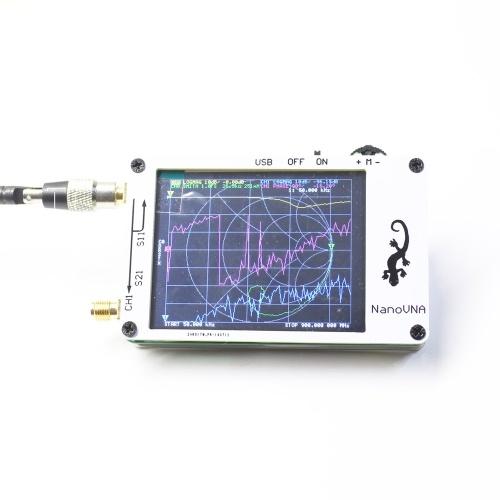 Mini Vector Network Analyzer 50 кГц-900 МГц 2,8-дюймовый цифровой ЖК-дисплей с сенсорным экраном ВЧ-УКВ-антенна Анализатор стоячей волны Измерительный прибор