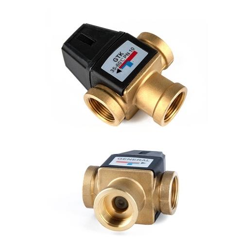 Латунь 3 способа, наружная резьба, термостатический клапан для воды, аксессуары для ванной комнаты, высокая точность, энергосбережение