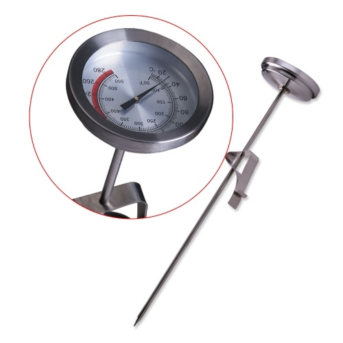 Stainless Steel Pocket Probe Thermometer Gauge Grill Oven Thermometer For BBQ Fried Food Kitchen Cooking Instant Read Meat Gauge