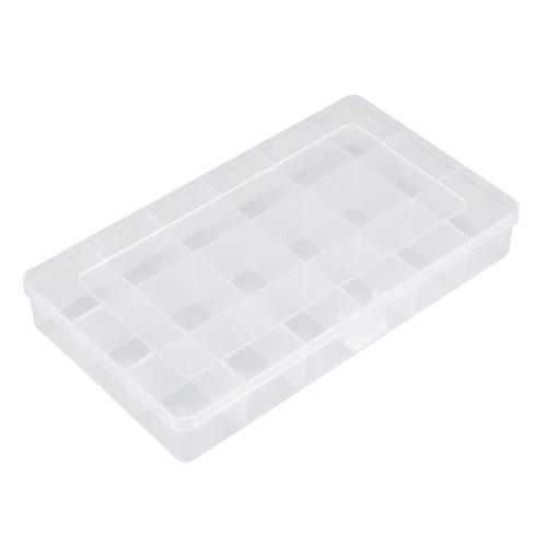 Portable Transparent Lastics Box 18 Grids Fixed Elements Storage Box