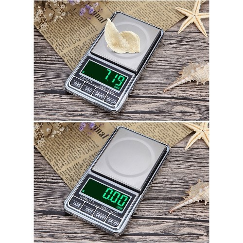 Portable Digital Scale Gold Jewelry Scale Mini Pocket Digital Scale Professional Accurate Electronic Scale Precision Balance 200g/0.01g DH-938C