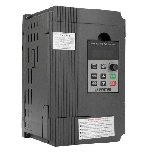 Commande universelle de moteur à courant alternatif de contrôleur de vitesse de fréquence de VFD 2.2KW 12A 220V dans l'onduleur variable triphasé dehors AT1-2200S