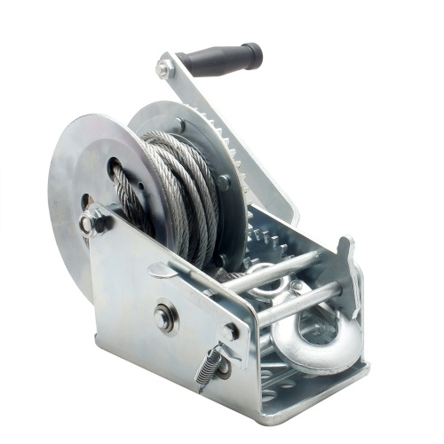 3500lbs Dual Gear Hand Winch Hand Crank Manual Boat ATV RV Trailer 33ft Cable
