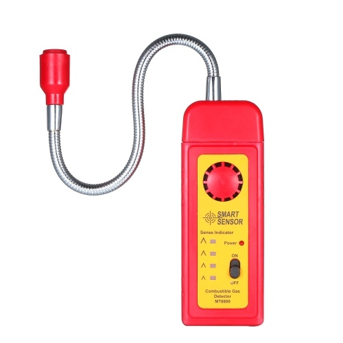 SMART SENSOR Flammable Gas Digital Detector Natural Gas Leak Detector Testing Instrument High Sensitivity Sensor for Combustible Gas Test and Analysis MT8800