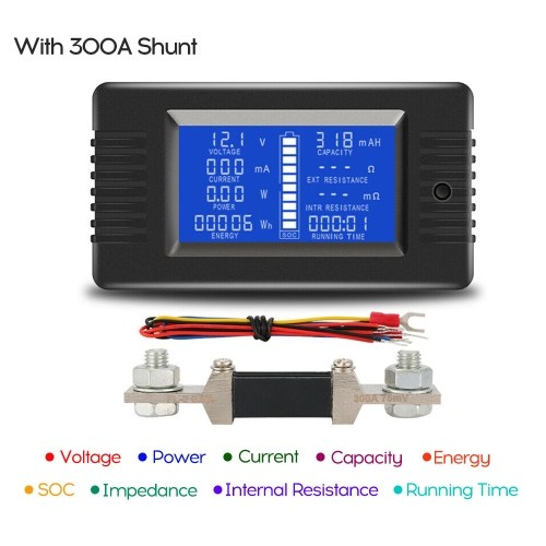 LCD Display Digital Strom Spannung Solar Power Meter Multimeter Amperemeter Voltmeter Batteriemonitor Meter