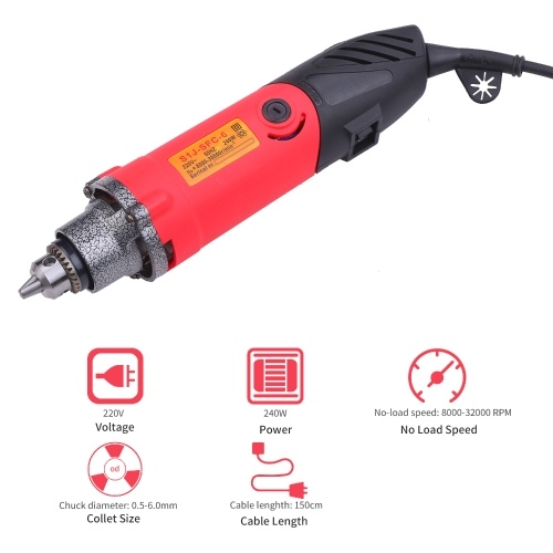 220V 240W Rotary Tool Kit Variable Speed with Flex Shaft Angle Grinder Tool 23 Accessories Multifunction Electric Rotary Drill Sander Cutting Polishing Tool Set 5