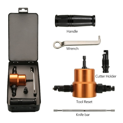 Double-headed Sheet Metal Nibbler Cutter 360 Degree Adjustable Drill Attachment Power Tool Accessories Cutting Tools