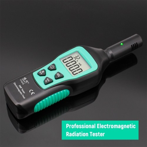 FUYI EMF Meter Electromagnetic Radiation Detector Household Handheld High Precision Electromagnetic Wave Radiation Tester Radiation Monitor FY876 Black