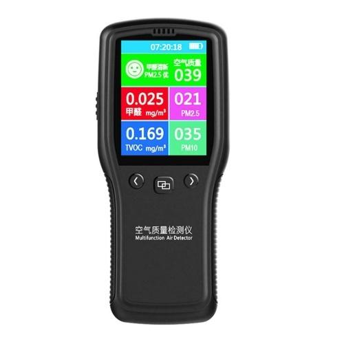 8 em 1 Detector de Monitor de Qualidade do Ar PM2.5 PM10 Formaldeído HCHO TVOC LCD Detector Digital