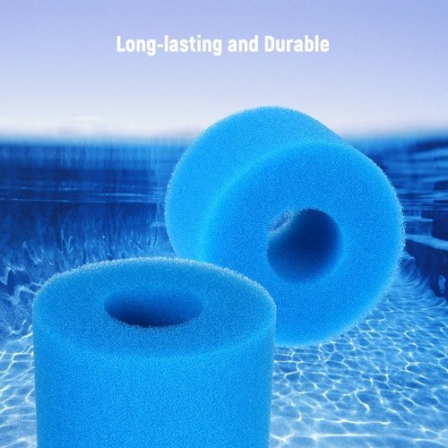 Swimming Pool Filter Cleaning Tool Reusable Washable Sponge Foam Filter Cartridge Replacement for Type S1 Filter Blue 7.5*10*10cm 5PCS/Pack