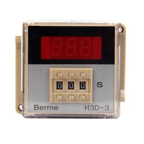 AC220Vデジタル時間遅延リレータイマー時間制御スイッチ999秒8ピン