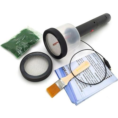 Mini aplicador de flocado de hierba estática ABS con mango antideslizante para mesa de arena de modelado escénico de bricolaje