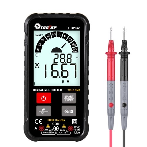 TOOLTOP ET8132 2.88 Inch Display Handheld High Accuracy Digital Multimeter