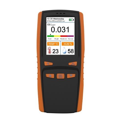 ポータブルオゾンアナライザー多機能O3オゾンメーター空気検知器インテリジェントセンサーオゾンメーター空気質汚染モニター