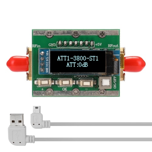 1MHz-3800MHz Radio Frequency Digital Programmable Attenuator 0-31dB Adjustable Step 1dB PC Controllable CNC Shell