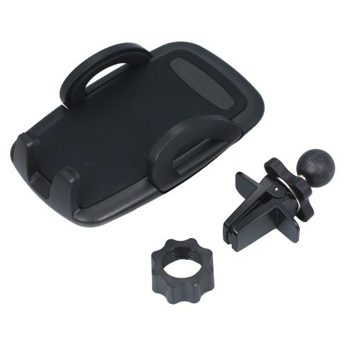 Soporte para teléfono con ventilación de aire para montaje en teléfono para automóvil con botón de liberación instantánea de rotación de 360 grados para teléfono móvil de 4-6 pulgadas