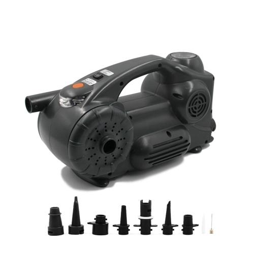 Compresseur d'air portable gonfleur de pneu DC 12V 120PSI pompe électrique avec manomètre analogique lumière LED pour pneus de voiture, moto, vélo, basket-ball et autres gonflables