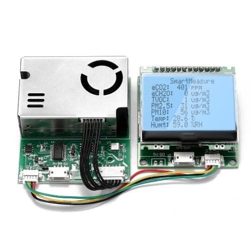 多機能センシングエレメントモジュールダストPM10PM2.5粒子状物質CO2HCHO TVOCセンサー、温度湿度検出機能付き