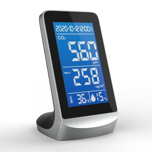 DM72D Portable Air Quality Analyzer Digital Display Screen CO2 PM2.5 Temperature Humidity Detector