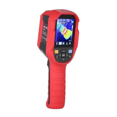 UNI-T Professional Thermal Imager Câmera de imagem térmica infravermelha portátil portátil de alta precisão com tela TFT LCD de 2,8 polegadas Dispositivo de visão noturna com campainha 14 ~ 752 ℉ (-10 ~ 400 ℃) Faixa de temperatura