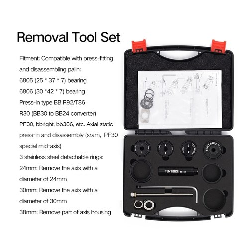 Bicycle Press In Axis Tool BB30 BB92 PF30 Remove Axis Installation Tool BB Removal Tool Bracket Installation And Removal Tool Bicycle Tool