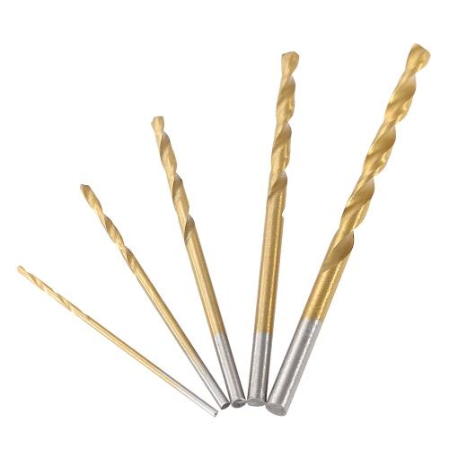 50 szt. / Zestaw HSS 4241 Titanium Coated Twist Drill Wysokogatunkowa stalowa wiertło kręcące Zestaw narzędzi Metryczny system 1mm 1.5mm 2mm 2.5mm 3mm