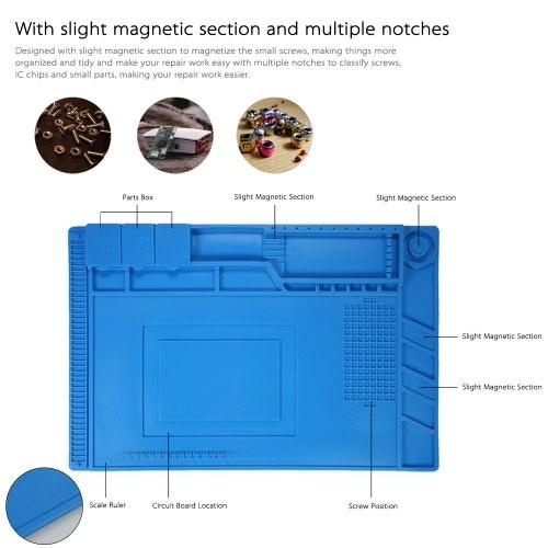 S-160 Magnetic Heat-resistant Soldering Mat Silicone Soldering Station Insulation Pad Repairing Tools Maintenance Platform
