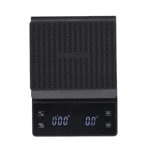 Bilancia digitale ad alta precisione da 0,3 g ~ 3000 g con display a LED bilancia elettronica a superficie impermeabile con retroilluminazione Bilancia da cucina portatile Bilancia da forno Bilancia da caffè