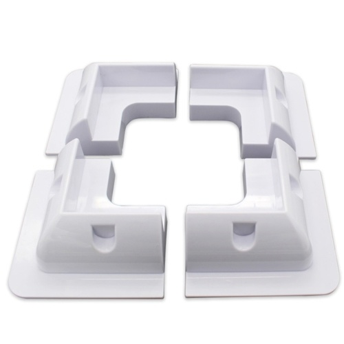 ABS Solar PV Scaffold RV Yacht Solar Support Solar Panel Mounting Side Brackets Corner for Motorhomes Boats