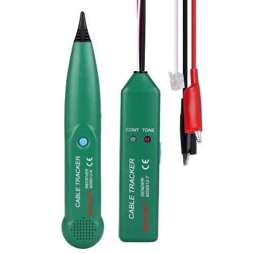 Портативный телефонный прибор для отслеживания проводов MAYILON MS6812 100 Гц ~ 300 кГц Диапазоны частот приема Инструмент UTP Тестер сетевого кабеля ЛВС Поиск линии Проверка установки кабельной линии Утилита