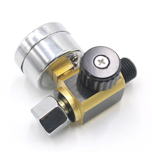 Universal Metal Sprayer Machine Air Pressure Regulator Gauge 0-0.10Bar G1/4 Adjustable Pressure Regulating Regulator Pressure Regulator
