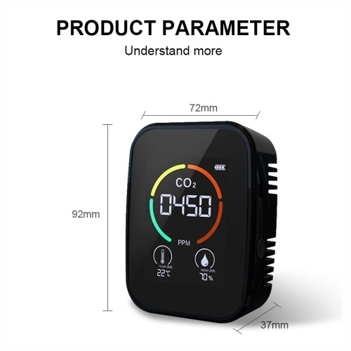 5 in1 CO2  Detector Digital Temperature Humidity Tester Air Quality Monitor  TVOC HCHO Detector