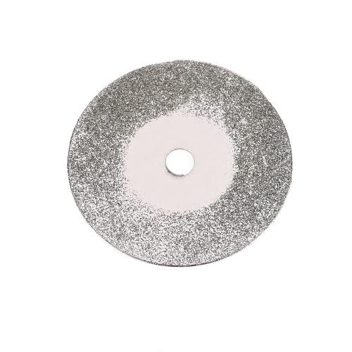10pcs 25/30 / 40mm diamante rivestito di macinazione 3 millimetri Diametro interno dischi lame rotanti di taglio della rotella della fetta per Dremel elettrico Grinder con 2 Mandrini