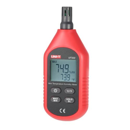 UNI-T UT333 ° C / ° F portatile del tester di umidità del termometro Max Min Valore di visualizzazione della temperatura interna Mini Digital