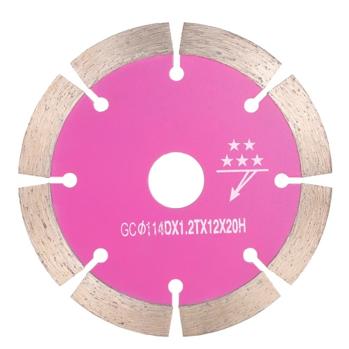 114*1.8*20mm Dry Cutting Segmented Diamond Saw Blade with Cooling Holes 20mm Inner Diameter Ceramic Tile Cutting For Angle Grinder Architectural Engineering Architect