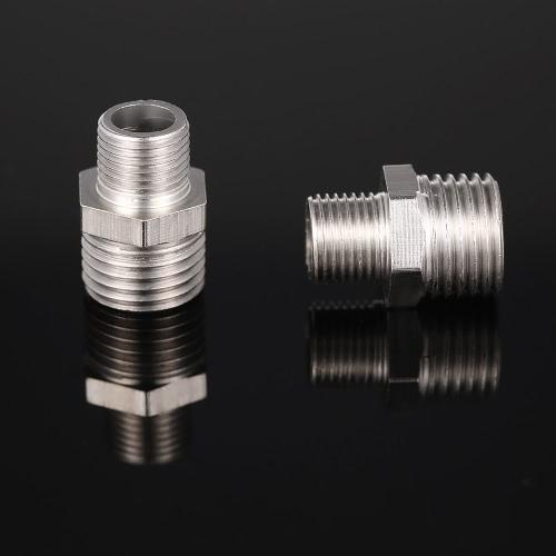 "Professional 2pcs Airbrush Air Hose Adaptor G1/8"" BSP Male & G1/4"" BSP Male Air Brush Connector for Mini Air Compressor"