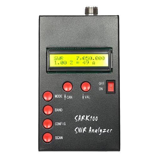 SARK100 1-60MHz HF ANT SWR Antena Analyzer Medidor Standing Wave Tester para Medição radioamador Hobbyists impedância de capacitância