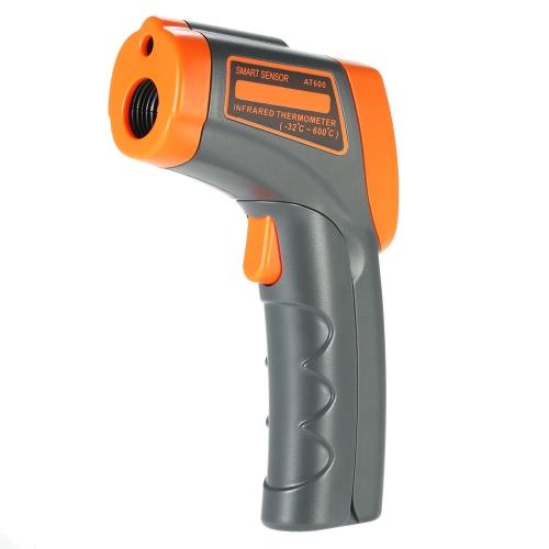 SMART SENSOR -32 ~ 600 ℃ 12: 1 sans contact Thermomètre infrarouge IR température portable numérique de poche testeur pyromètre LCD avec rétro-éclairage centigrades Fahrenheit Emissivité réglable