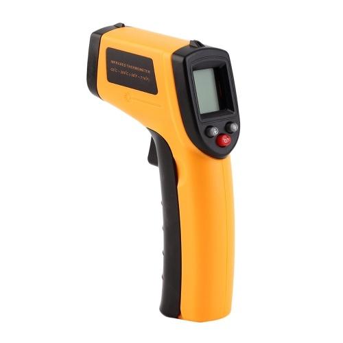 12: 1 GM320 Ręczny bezdotykowy termometr na podczerwień -50 ~ 380 ° C