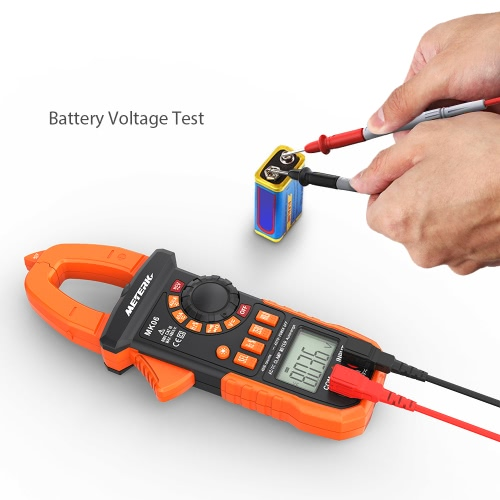 Clamp Meter Meterk 4000 Counts Digital Clamp Meter NCV AC//DC Voltage LCD Diaplay Auto Range Current Multimeter w// Backlight Capacitance Resistance Frequency Temperature Measure Diode Hz Tester