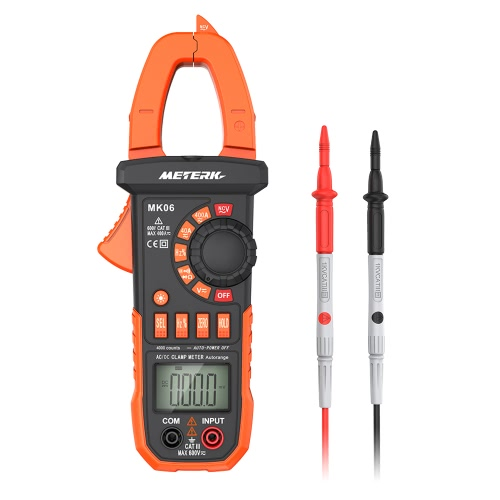 Meterk Digitalzangenmessgerät 4000 Counts Auto-ranging Multimeter