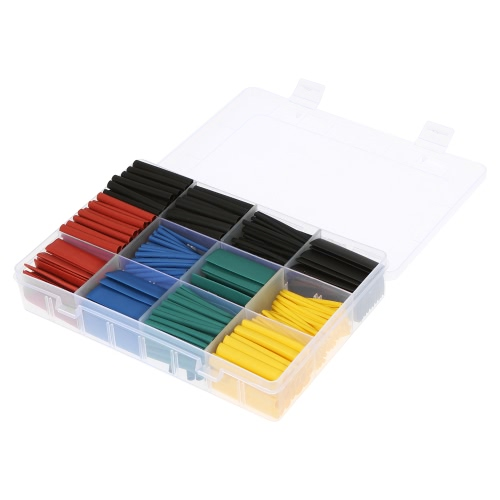 530pcs Colorful Polyolefin Halogen-Free Heat Shrink Tubing Tube Sleeving Wrap Wire Cable Kit 8 Size Shrink Ratio 2:1 φ1.5-φ10mm