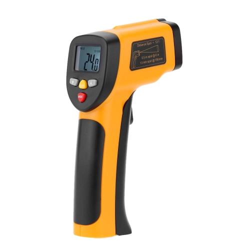 Meterk haute précision sans contact infrarouge infrarouge infrarouge thermomètre température compteur pyromètre gamme -55 ~ 650 ° C (-58 ~ 1202 ° F)