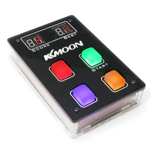 KKmoon DIYゲームコンソールキットとアクリルケースLEDライトゲームプレイヤー子供のゲームマシンのおもちゃシーケンス学習のためのメモリ練習