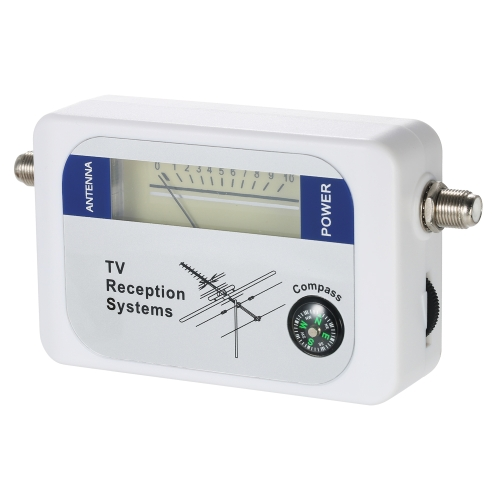Satellite Signal Finder Satellite Finder Satellite Signal Meter Mini TV Antenne Satellite Signal Finder Meter avec Compass
