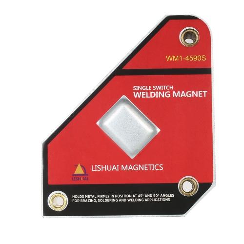 Silny, jednokanałowy uchwyt magnetyczny do spawania neodymowego Włącznik / wyłącznik Magnetyczny zacisk 45 ° / 90 ° Mały rozmiar