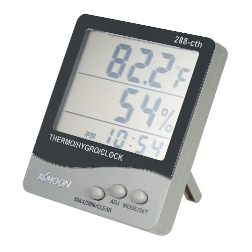 KKmoon LCD ℃ / ℉ Numérique Thermomètre Hygromètre Température Humidité Mètre Réveil