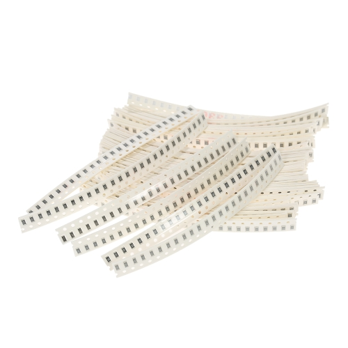 1250pcs 50 Valores 1206 SMD Resistor Assorted Kit 0R ~ 10MR 5% Componentes Eletrônicos